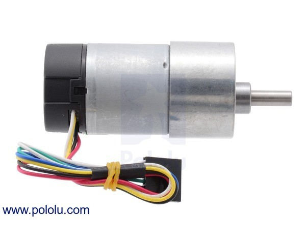 131:1 12VDC Gearmotor with 64CPR Encoder