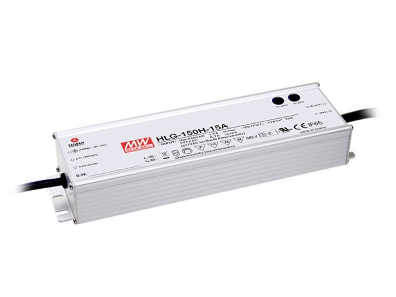 150W Mean Well HLG-150H-12 IP67 LED Power Supply 150W 12V