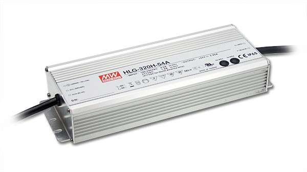 320W Mean Well HLG-320H-24 IP67 LED Power Supply 320W 24V