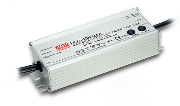 40W Mean Well HLG-40H-12 IP67 LED Power Supply 40W 12V