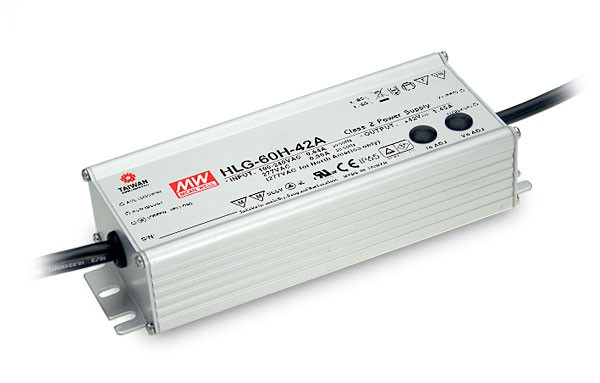 60W Mean Well HLG-60H-24 IP67 LED Power Supply 60W 24V
