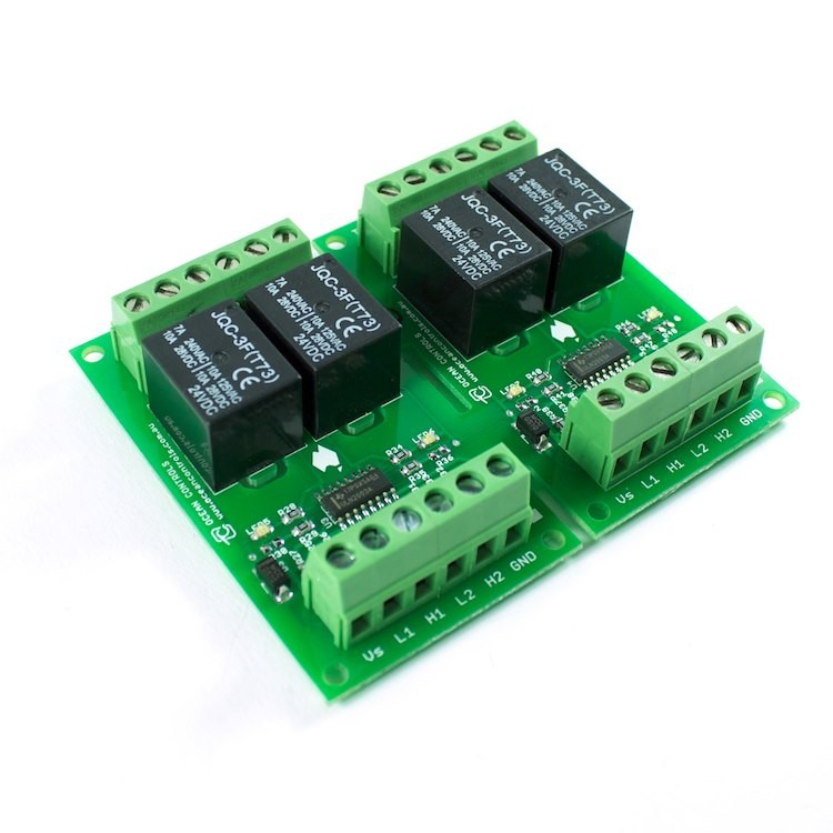Four 24VDC Relay Card