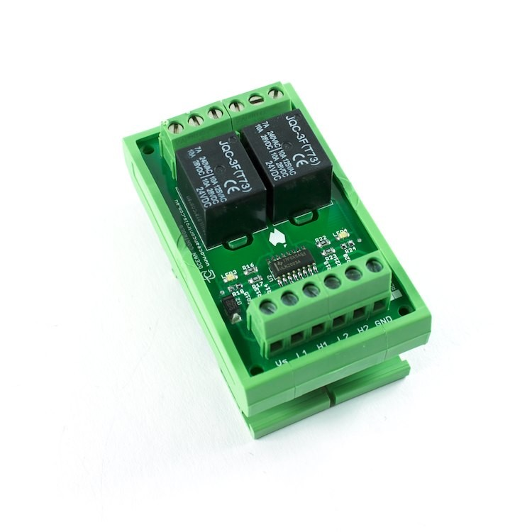 Two 24VDC Relay Card on DIN Rail