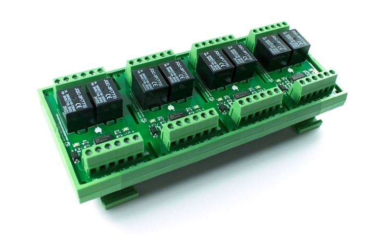 Eight 24VDC Relay Card on DIN Rail