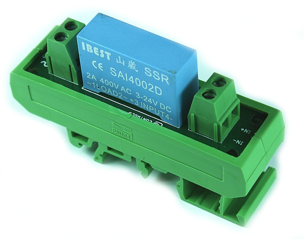Solid State Relay Terminal Card DIN Rail Mount