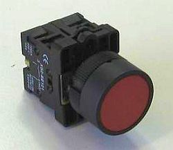 HB2 Red Flush PushButton Spring Return