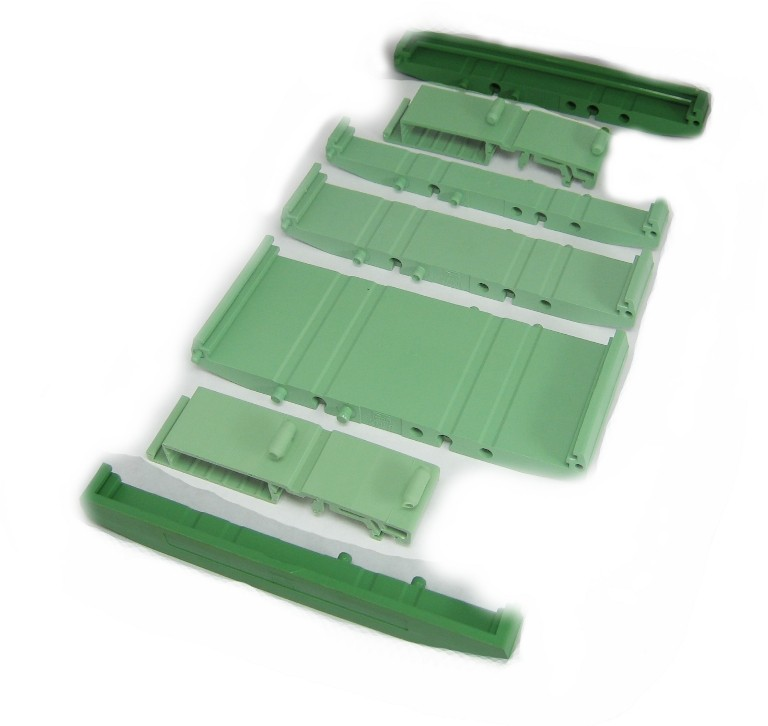 107 mm Series Modular DIN Rail Mounts - End Cap