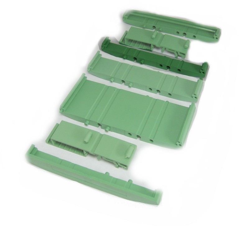 107 mm Series Modular DIN Rail Mounts - 11.2 mm Base Section