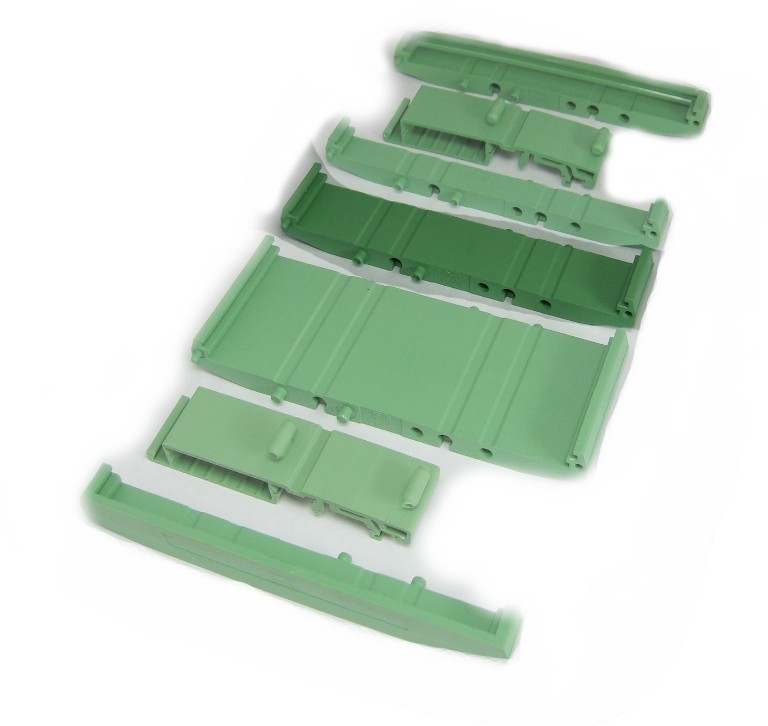 107 mm Series Modular DIN Rail Mounts - 22.4 mm Base Section