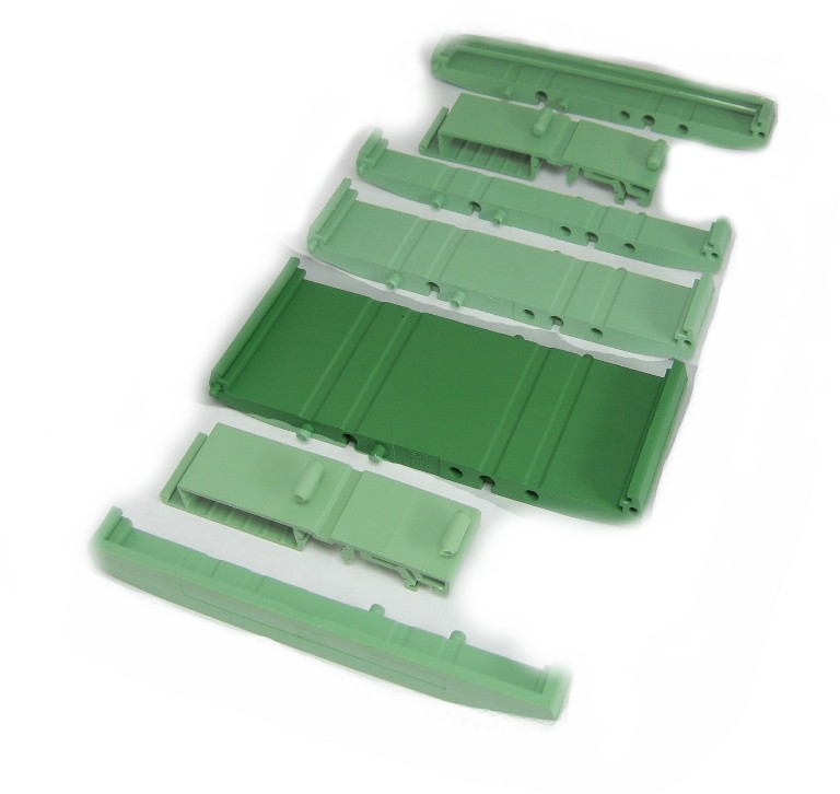 107 mm Series Modular DIN Rail Mounts - 44.8 mm Base Section