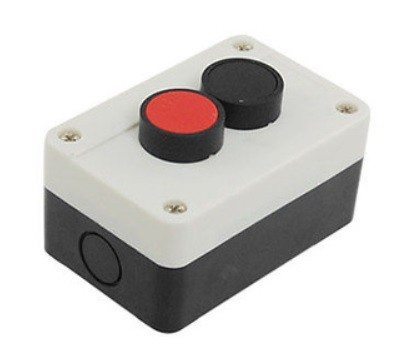 Red Black 2 Switch Push Button Control Box Station