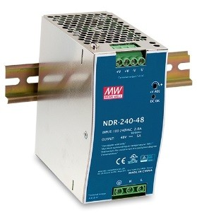 240W Mean Well NDR-240-48 Single Output DIN Rail Supply 48V Out