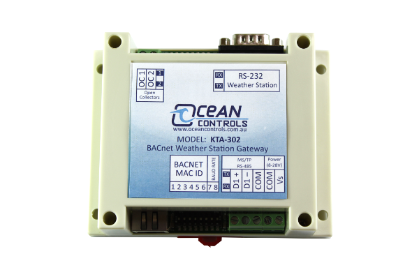 BACnet MS/TP Weather Station Gateway