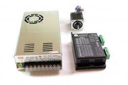 Single Axis 0.43 N·m (61 oz·in) Stepper Motor CNC Kit