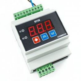 RT28U DIN Rail Mount On-Off Temp Controller with Universal Analog Input 12-24V