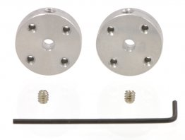 Universal Aluminium Mounting Hub for 3 mm Shaft, M3 Holes (2-Pack)