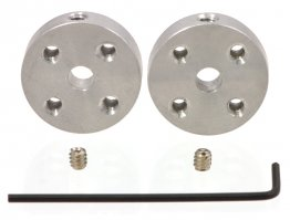 Universal Aluminium Mounting Hub for 4 mm Shaft, M3 Holes (2-Pack)