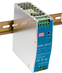 120W Mean Well NDR-120-24 Single Output DIN Rail Supply 24V Out