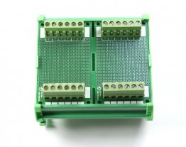 87.2 x 72 mm DIN Rail With Proto-Board