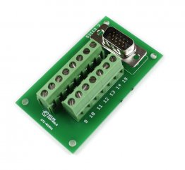 D15 High Density Male Terminal Card