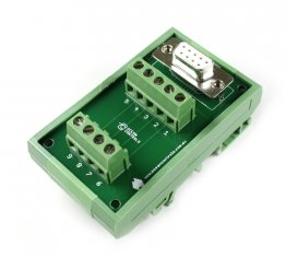 D9 Female Terminal Card Mounted on DIN Rail