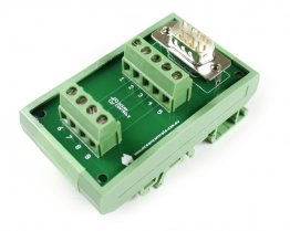 D9 Male Terminal Card Mounted on DIN Rail