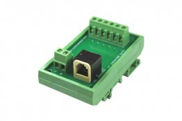 RJ12 Terminal Card on DIN rail