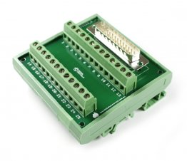 D25 Male Terminal Card Mounted on DIN Rail