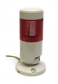 24VDC IP65 Signal Tower (Red) with Flat Plastic Support