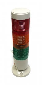 24VDC IP65 Multi-Level Signal Tower (Red, Yellow, Green) with Flat Plastic Support