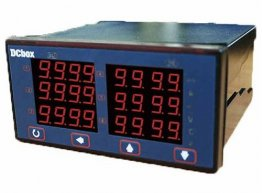 4 Digital 6 Channels 4-20mA Process Meter 24VDC powered