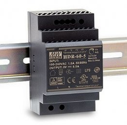 60W Mean Well HDR-60-12 Ultra Slim DIN Rail Supply 12V Out