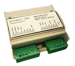 BACnet MS/TP IO-Module 2DI/2DO DIN Rail Mount