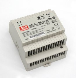 30W Mean Well DR-30-24 Single Output DIN Rail Supply 24V