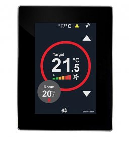 Touchscreen Room Controller, 1RI, 1DI, 2AO, 3RO, 24Vac/dc With BACnet MS/TP Communication