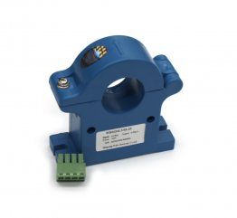 Split core hall effect current transducer 0-50A DC, 4-20mA output, 24VDC Powered, 25mm Window