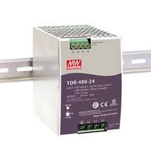 480W Mean Well WDR-480-24 Slim Wide Input Range DIN Rail Power Supply 24V Out