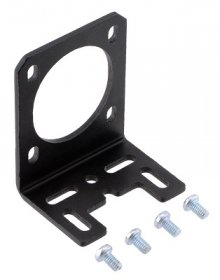 Stamped Aluminum L-Bracket for NEMA 14 Stepper Motors