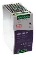 240W Mean Well WDR-240-24 Slim Wide Input Range DIN Rail Power Supply 24V Out