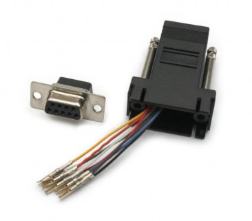 DB9 Female to RJ45 Female Adapter