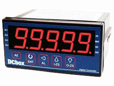 Frequency/Tachometer/Line Speed Meter with Analog Retransmission, RS-485 and 2 Relays, 24 V Powered