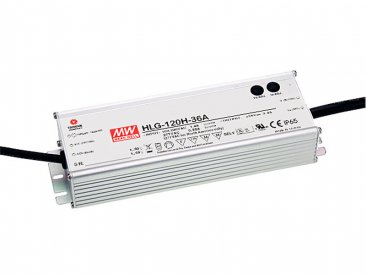 120W Mean Well HLG-120H-12 IP67 LED Power Supply 120W 12V