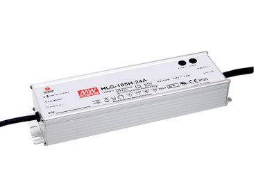 185W Mean Well HLG-185H-12 IP67 LED Power Supply 156W 12V