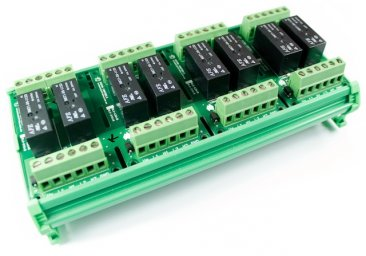Eight 12VDC Relay Card on DIN Rail