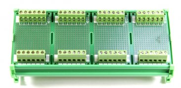 176.8 x 72 mm DIN Rail With Proto-Board