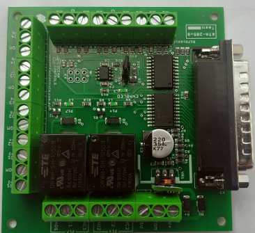 Parallel Port Interface card with Relays Outputs and Safety Charge Pump Option