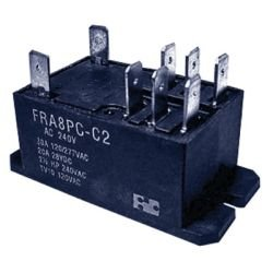 30 A DPDT Panel Mount Relay, 24 VDC